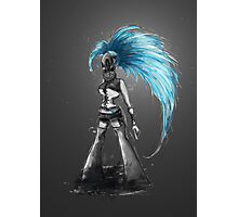 Rainbow Punk: Cybernetic Blue Photographic Print
