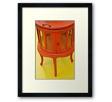 Red Table  Framed Print
