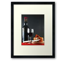 Red with Pepper Cheese Framed Print