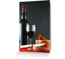 Red with Pepper Cheese Greeting Card