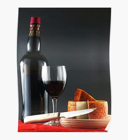 Red with Pepper Cheese Poster
