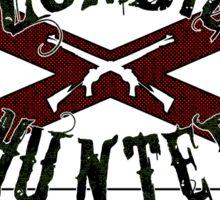 Zombie Hunter flag Sticker