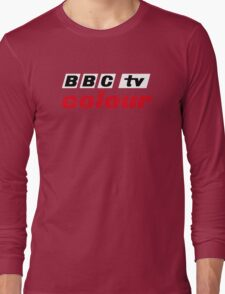 Retro BBC colour logo, as seen at Television Centre (in white) Long Sleeve T-Shirt
