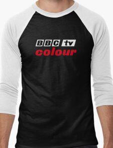 Retro BBC colour logo, as seen at Television Centre (in white) Men's Baseball ¾ T-Shirt