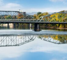 Exchange Street Bridge Landscape Binghamton NY Sticker