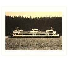 Washington State Ferry Art Print