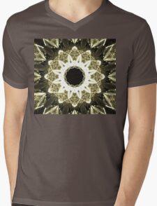Beige Star Mens V-Neck T-Shirt