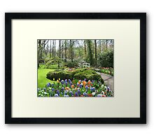 Little Bridge - Keukenhof Gardens Framed Print