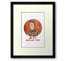 Log Lady Framed Print