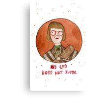 Log Lady Canvas Print