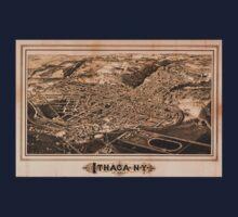 Panoramic Maps Ithaca NY One Piece - Short Sleeve