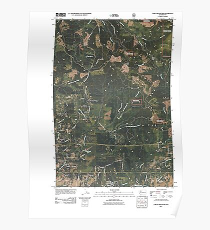 USGS Topo Map Washington State WA Larch Mountain 20110503 TM Poster