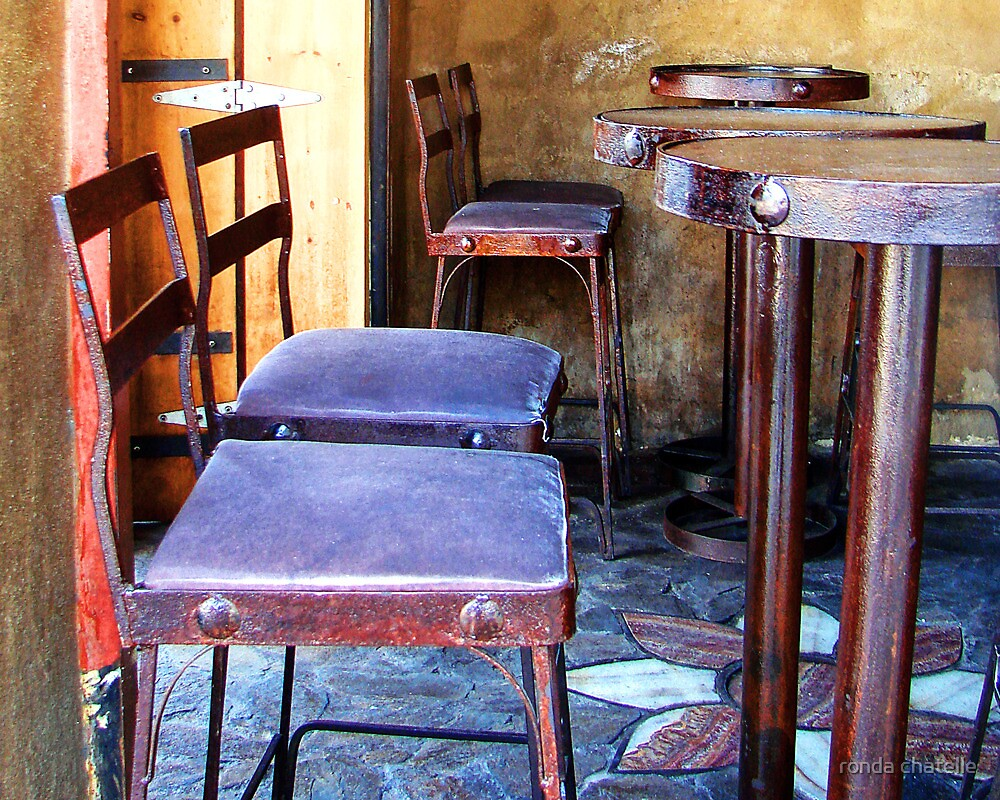 Empty Cafe  by ronda chatelle