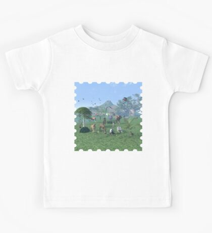 An exotic wild animal scene Kids Tee