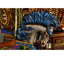 Carousel Horse Star Of The Show Photographic Print