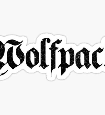 Wolfpack Distressed Sticker