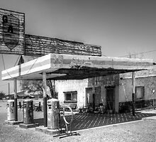 Route 66 Garage California by Bob Christopher