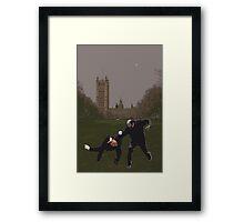 London Matrix, Martial arts Smith Framed Print