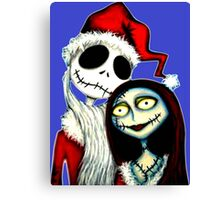 Jack and Sally Skellington ready for Christmas Canvas Print