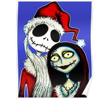 Jack and Sally Skellington ready for Christmas Poster
