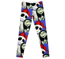 Jack and Sally Skellington ready for Christmas Leggings
