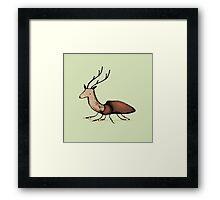 Stag Beetle Framed Print