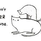Slightly Threatening Romantic Cat by Sophie Corrigan