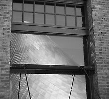 Tacoma Museum of Glass in Window by Kate  Rogers