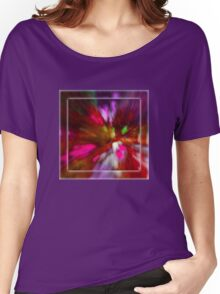 Rainy Day: Tulips, Zoomed Women's Relaxed Fit T-Shirt