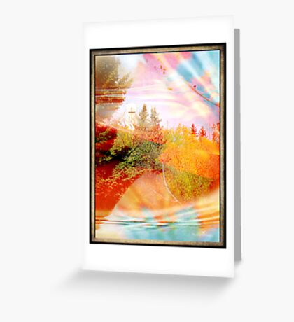Embrace of colors Greeting Card
