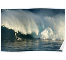 Surfing Jaws Maui Hawaii Poster