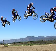 Motocross Jump by Bob Christopher