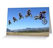 Motocross Jump Greeting Card