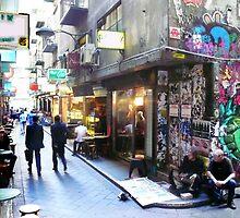 Degraves Street, Melbourne by Roz McQuillan