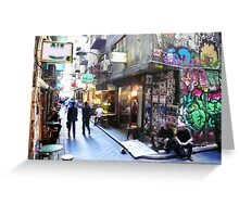 Degraves Street, Melbourne Greeting Card