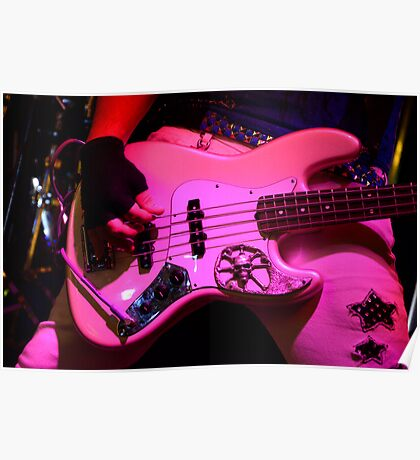Guitar Pretty In Pink Poster