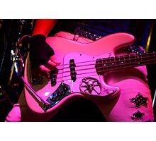 Guitar Pretty In Pink Photographic Print