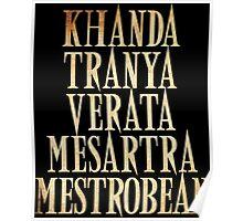 Ash vs Evil Dead - Khanda Tranya Verata... Poster