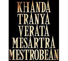 Ash vs Evil Dead - Khanda Tranya Verata... Photographic Print