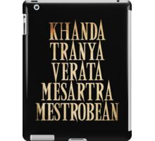 Ash vs Evil Dead - Khanda Tranya Verata... iPad Case/Skin
