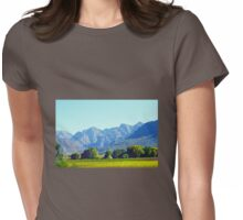 Blue mountains Womens Fitted T-Shirt