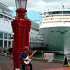 Busker - Auckland waterfront, New Zealand........! by Roy  Massicks