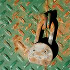 Macro photo of rusty padlock by crazylemur