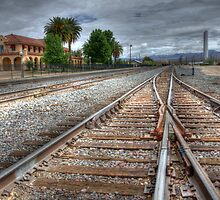 Train Tracks Out Of Kelso by Bob Christopher