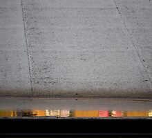 Abstract photo of reflection on city roof by crazylemur