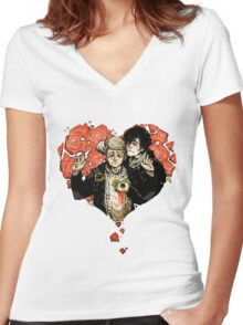 Sherlock: The Reichenbach Fall 2 Women's Fitted V-Neck T-Shirt