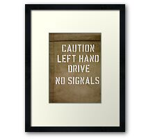 Warning on Side of US Army Jeep Framed Print