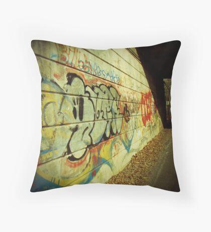 Graffiti under the Bridge Throw Pillow