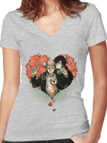 Sherlock: The Reichenbach Fall Women's Fitted V-Neck T-Shirt