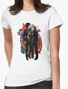Sherlock: HEART and mind Womens Fitted T-Shirt